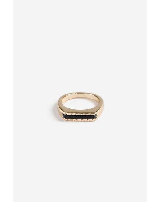 TOPSHOP - Black onyx Rectangle Ring - Lyst
