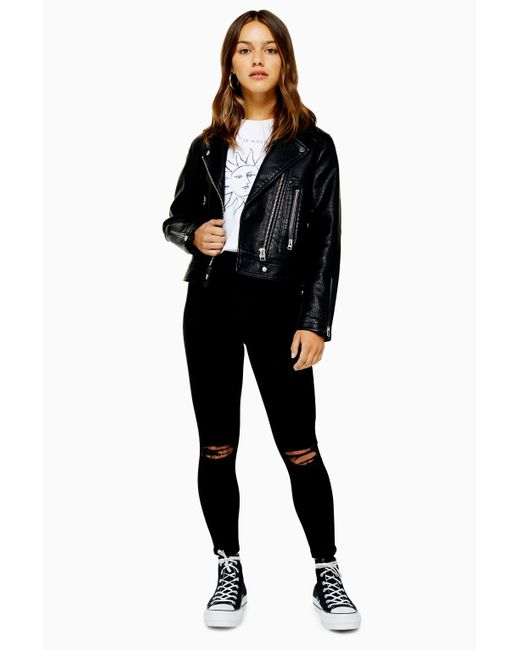elegant and sturdy package discount collection newest style of Women's Black Petite Rip Belt Loop Joni Jeans