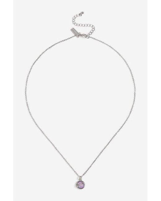 TOPSHOP - Purple rising Star Ditsy Necklace - Lyst