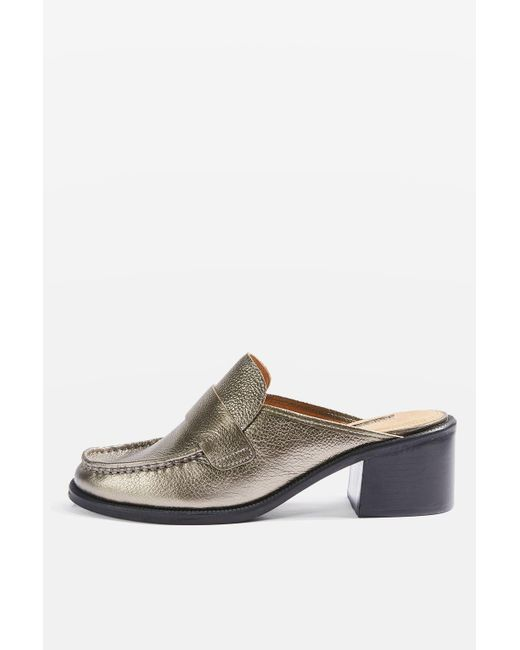 TOPSHOP | Multicolor Kolour Backless Loafers | Lyst