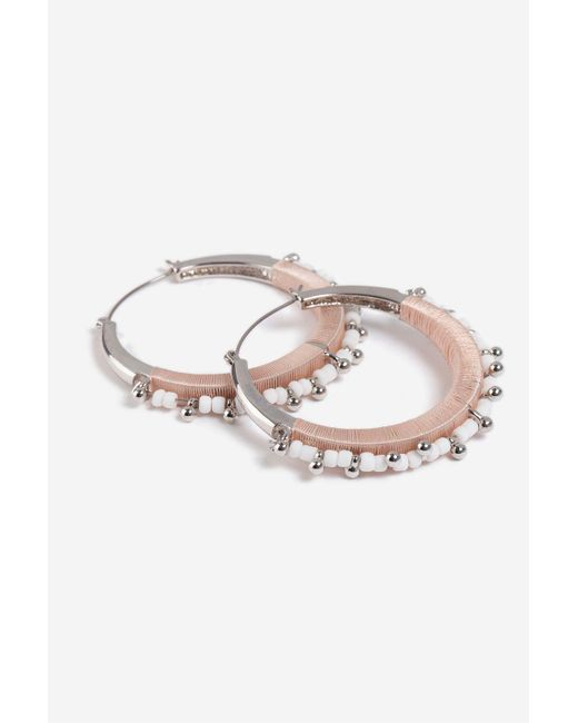 8df452818926d Women's Pink Bead Wrapped Hoops