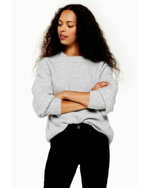 TOPSHOP Gray Petite Grey Sweater