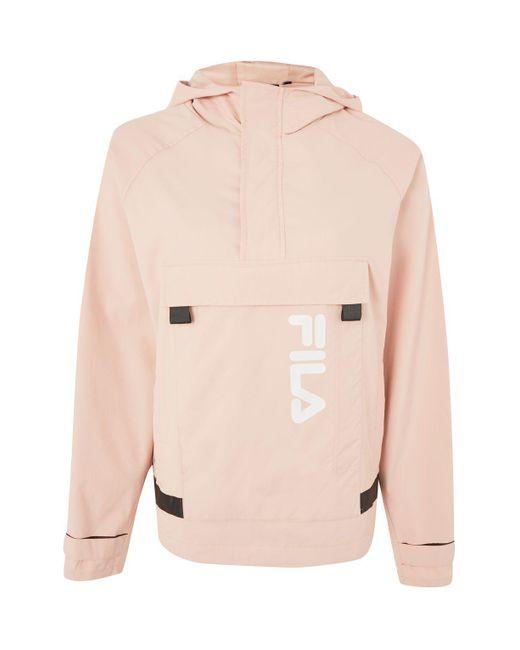 Fila | Pink Half Zip Logo Jacket By Fila | Lyst