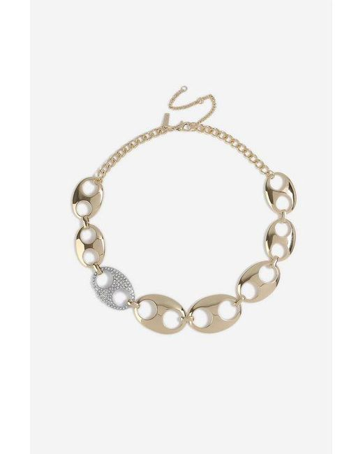 TOPSHOP - Metallic linked Collar Necklace - Lyst