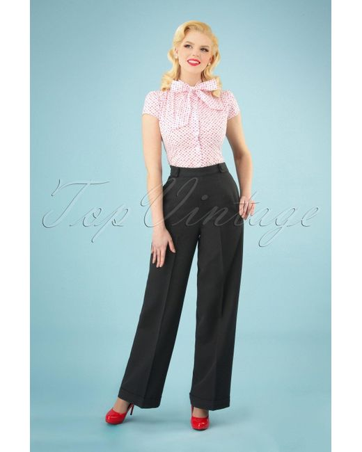 Banned Retro 40s Party On Classy Trousers in het Black