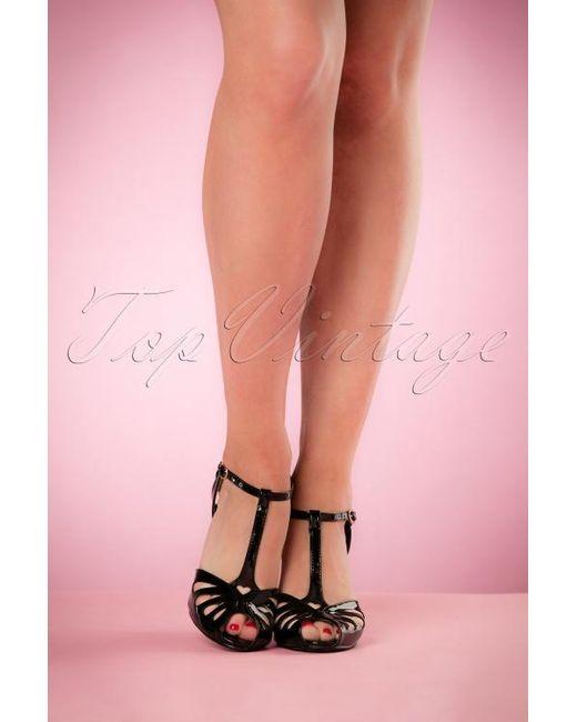 Banned Retro 40s Secret Love Sandals in het Black