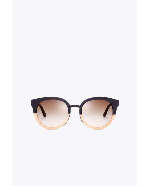 Tory Burch - Black Panama Sunglasses - Lyst