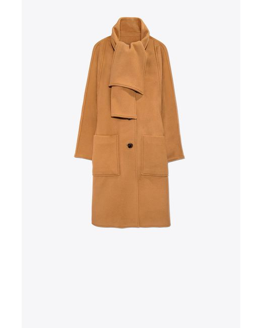 Tory Burch | Brown Chelsea Coat | Lyst