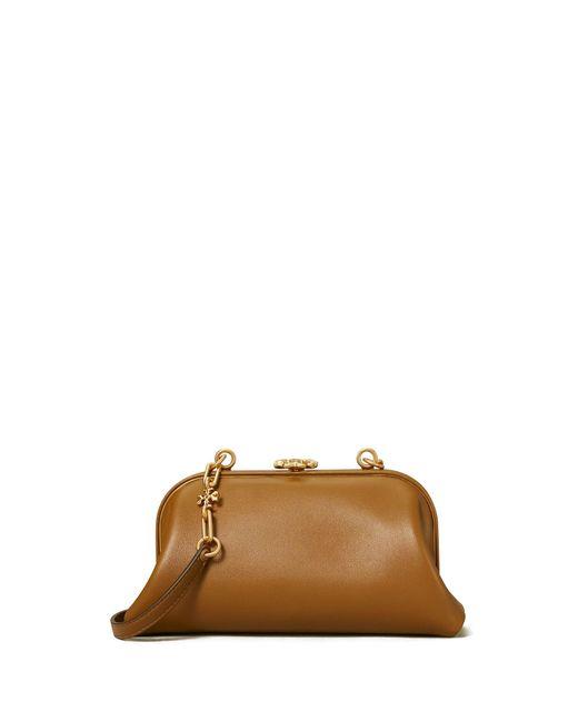 Tory Burch Brown Cleo Mini Bag