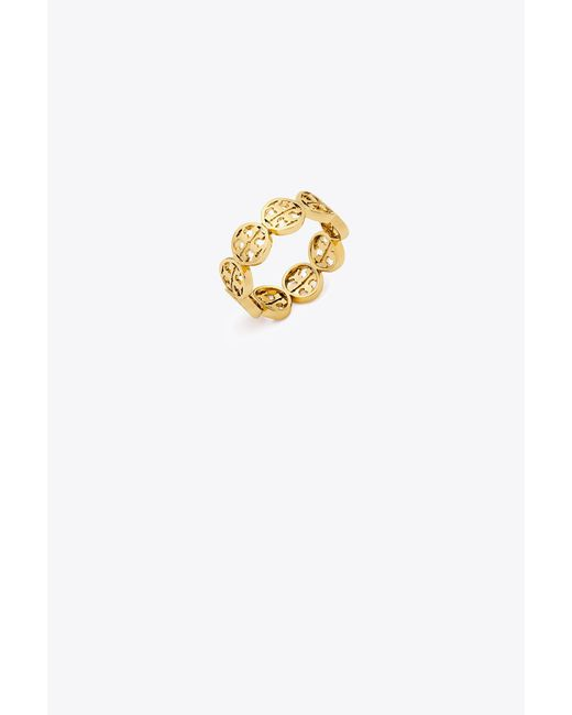 Tory Burch - Metallic Logo Ring - Lyst