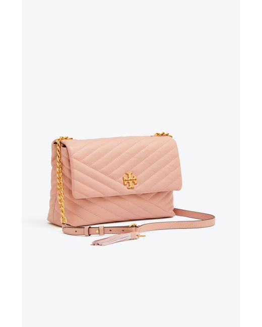 Tory Burch - Pink Kira Quilted Leather Shoulder Bag - Lyst