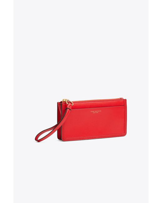Tory Burch - Red Perry Zip Wristlet - Lyst