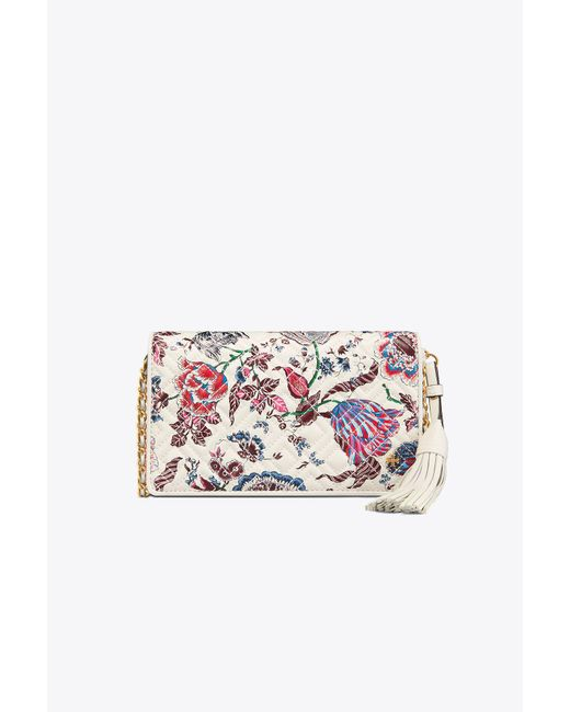Tory Burch - Multicolor Fleming Printed Flat Wallet Cross-body - Lyst