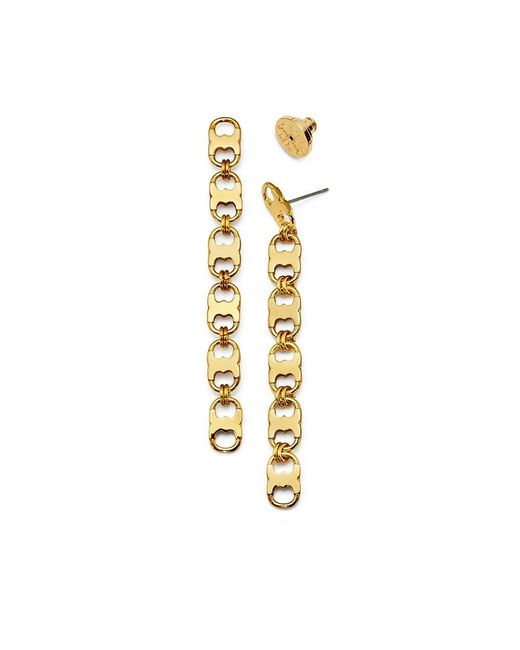 Tory Burch | Metallic Gemini Link Linear Earring | Lyst