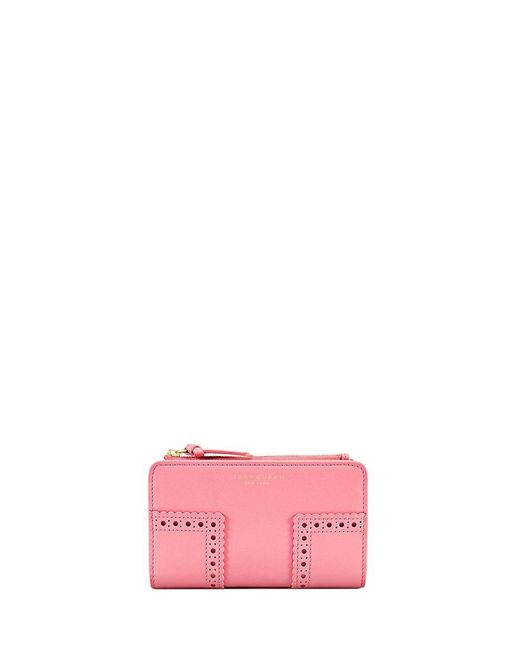 Tory Burch | Pink Block-t Brogue Smartphone Wallet | Lyst