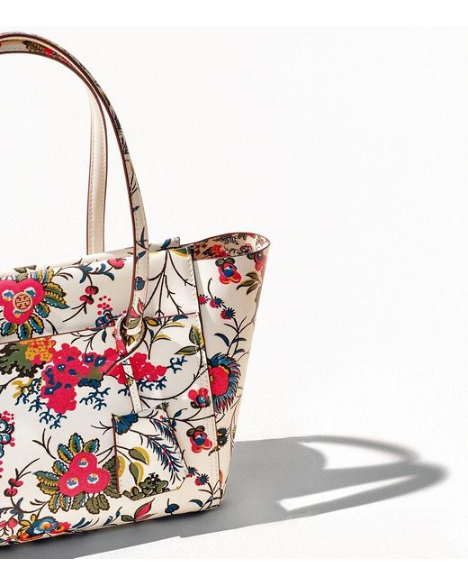 Tory Burch Parker Floral Small Tote | Lyst