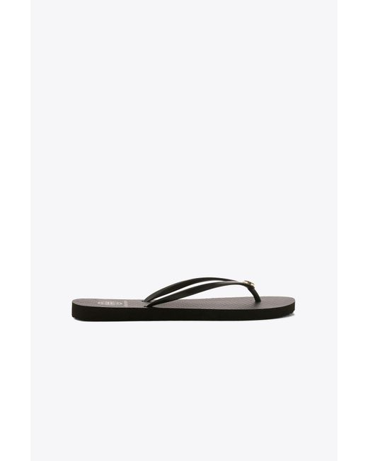 Tory Burch - Black Thin Flip-flop - Lyst