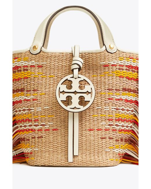 992f08185be ... Tory Burch - Multicolor Miller Fringe Mini Bucket Bag - Lyst ...