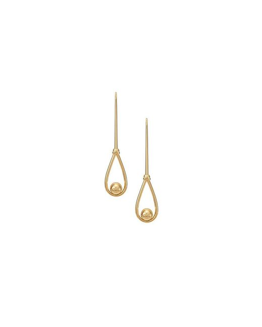Tory Burch | Metallic Logo Loop Earring | Lyst