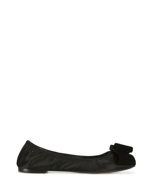 Tory Burch | Black Viola Bow Ballet Flat | Lyst