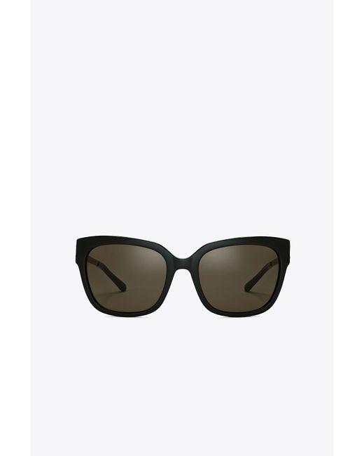 Tory Burch | Black Modern Square Sunglasses | Lyst