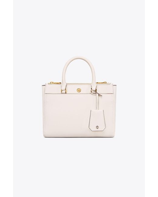 Tory Burch - Pink Robinson Small Double-zip Tote - Lyst