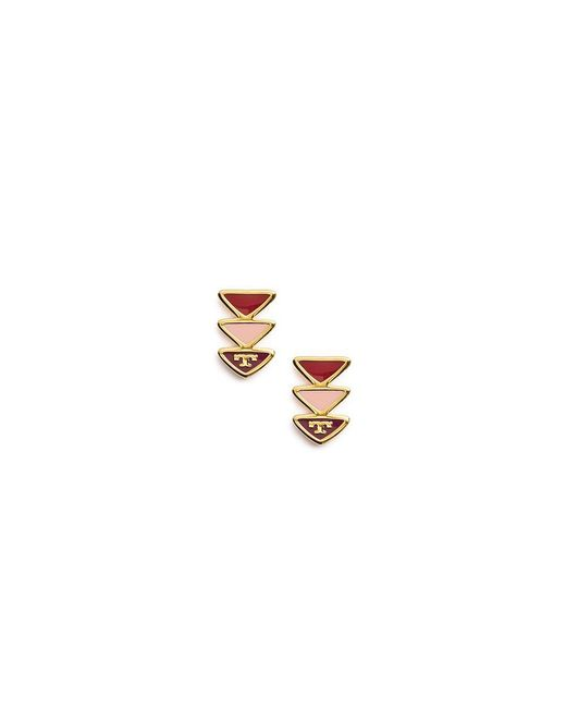 Tory Burch | Metallic Geo Triangle Stud Earring | Lyst