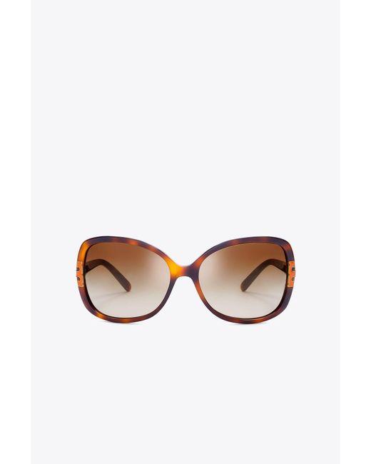 Tory Burch | Multicolor Oversized T-hinge Sunglasses | Lyst
