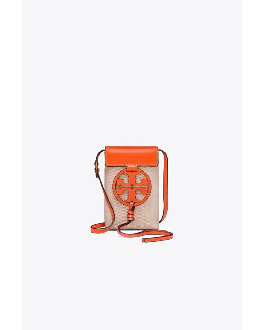 Tory Burch - Orange Miller Canvas Phone Cross-body - Lyst