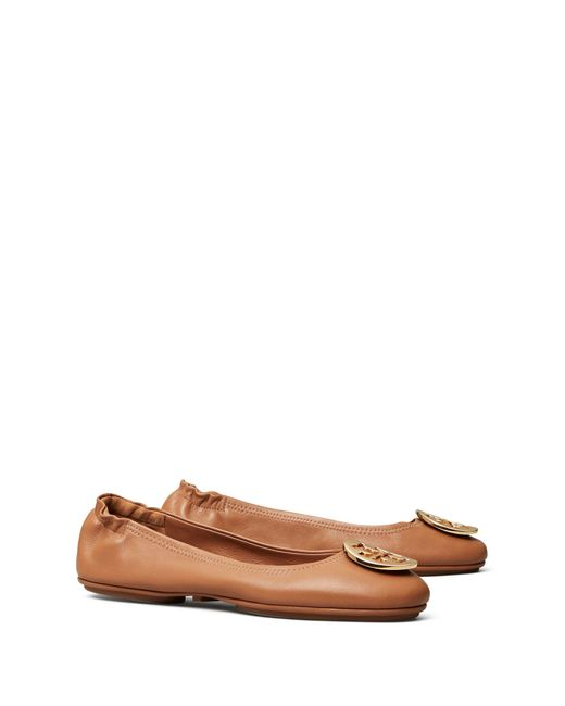 Tory Burch Multicolor Minnie Travel Ballet Flats, Leather