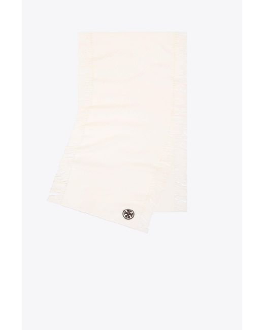 Tory Burch - Multicolor Textured Jacquard Oblong Scarf With Fringe - Lyst