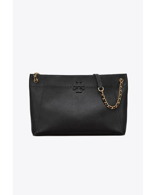 Tory Burch - Black Mcgraw Chain-shoulder Slouchy Tote - Lyst