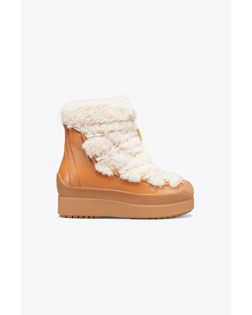 Tory Burch - Multicolor Courtney Shearling Boot - Lyst