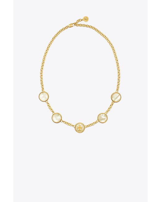 Tory Burch - Metallic Semiprecious Multi Necklace - Lyst