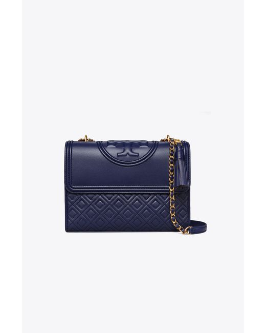 Tory Burch Blue Fleming Convertible Shoulder Bag