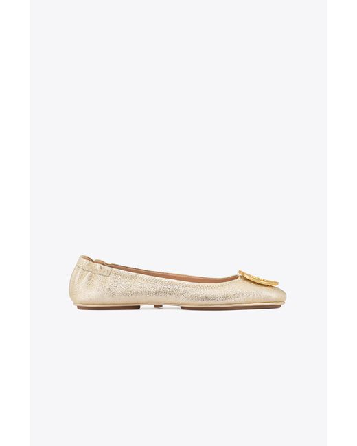 Tory Burch - Multicolor Minnie Travel Ballet Flat, Metallic Leather - Lyst