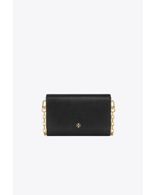 Tory Burch | Black Robinson Chain Wallet | Lyst