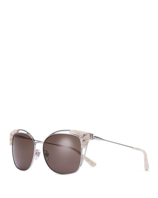 Tory Burch | Metallic Open-wire Square Sunglasses | Lyst