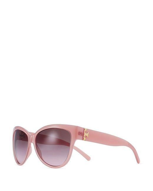 Tory Burch | Brown Oversized Cat-eye Sunglasses | Lyst