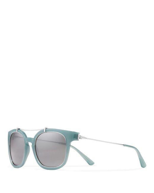 Tory Burch | Blue Metal Brow-bar Sunglasses | Lyst