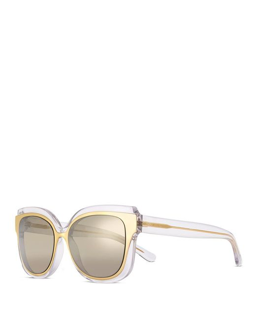 Tory Burch | Metallic Mixed-materials Sunglasses | Lyst