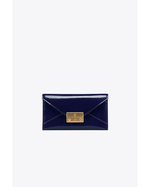 Tory Burch   Blue Juliette Envelope Pouch   Lyst