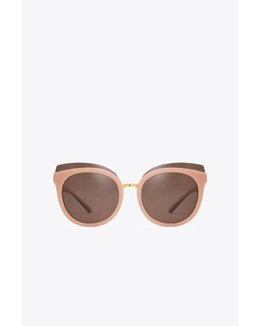 Tory Burch - Multicolor Mixed-materials Panama Sunglasses - Lyst
