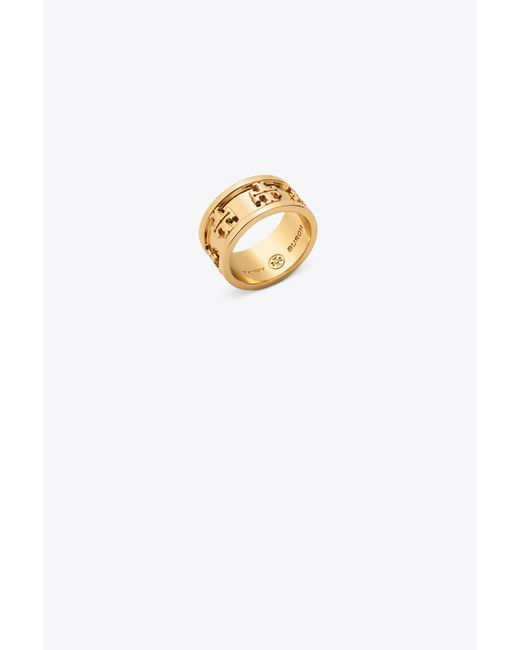 Tory Burch | Metallic Logo Ring | Lyst