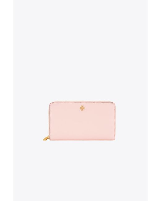 Tory Burch   Pink Robinson Zip Continental Wallet   Lyst