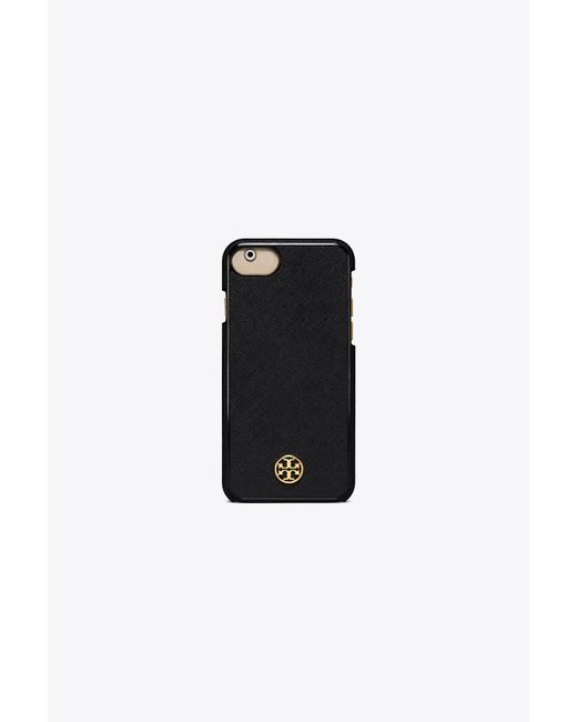Tory Burch Black Robinson Hardshell Case For Iphone 8