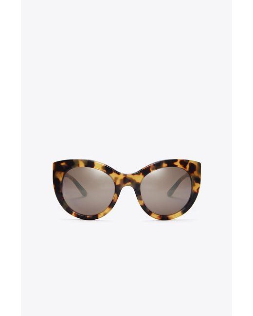 Tory Burch - Brown Retro Cat-eye Sunglasses - Lyst