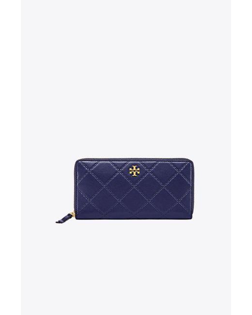 Tory Burch - Blue Georgia Zip Continental Wallet - Lyst