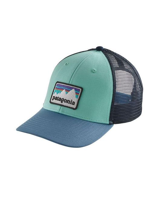 ... Patagonia - Blue Shop Sticker Patch Lopro Trucker Hat for Men - Lyst ... 5bc35330e867