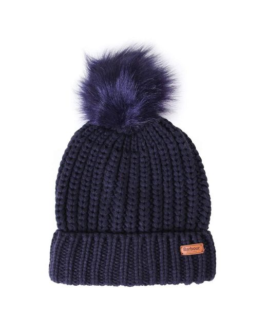 Barbour Blue Saltburn Beanie Navy